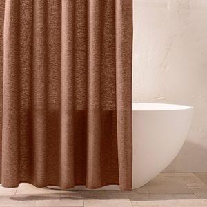 Chambray Shower Curtain Clay - Casaluna